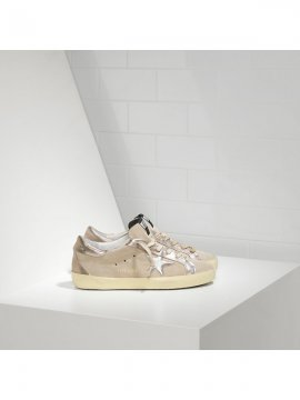 Beige Gold Superstar Sneakers