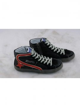 Black Red Slide Sneakers