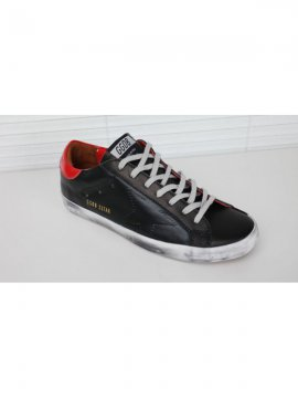 Black Red Superstar Sneakers
