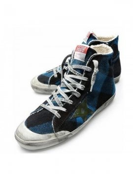 Blue Black Green Slide Sneakers