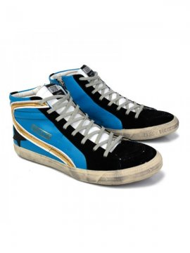 Blue Black Slide Sneakers