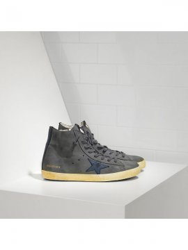Blue Gray Black Francy Sneakers