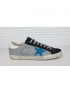 Blue Gray White Superstar Sneakers
