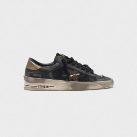 Golden Goose Stardan LTD Sneakers Distressed Black And Gold G35WS959.C6