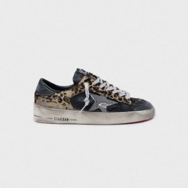 Golden Goose Stardan Sneakers Leopard-print With Fuchsia Sole G35WS959.F4