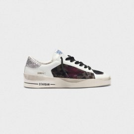Golden Goose Stardan Sneakers With Leopard-print Star And Glittery Heel Tab G35WS959.C9