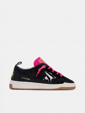 Golden Goose Yeah sneakers with glitter and zebra-print star Black GWF00130.A1