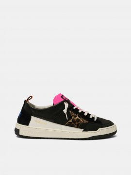 Golden Goose Yeah sneakers with leopard-print star Black G36MS602.A6