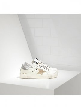 Gold Silver White May Sneakers