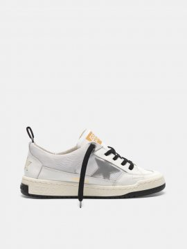 Goolden Goose Yeah sneakers with silver star White G36WS602.A1