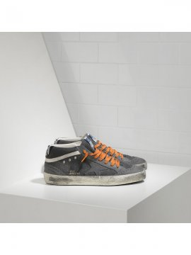 Gray Mid Star Sneakers