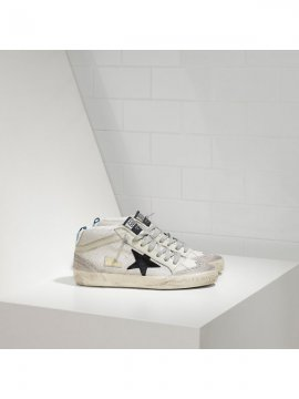 Gray White Black Mid Star Sneakers