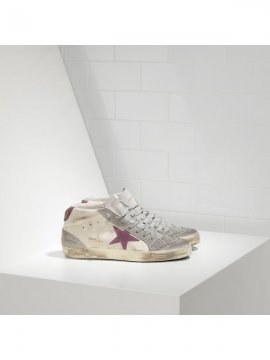 Pink Khaki White Red Mid Star Sneakers