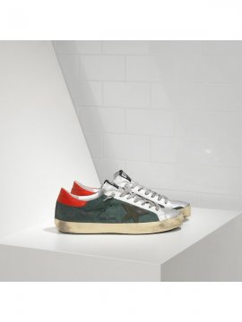 Red Green Superstar Sneakers