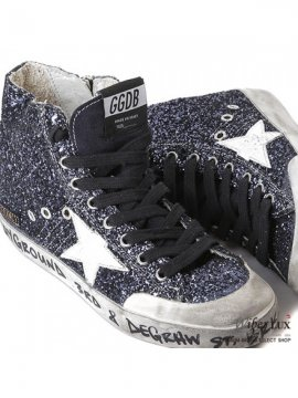 Red Silver Glitter Sneakers