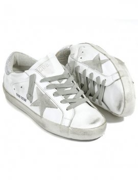 Silver Superstar Sneakers