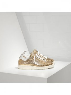 White Gold Glitter Sneakers