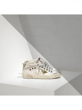White Gold Mid Star Sneakers
