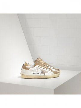 White Gold Superstar Sneakers