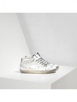 White Mid Star Sneakers