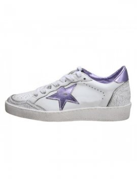 White Purple Ball Star Sneakers