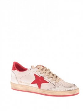 White Red Ball Star Sneakers