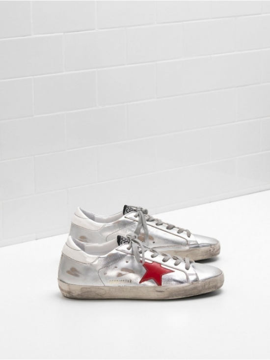 White Red Superstar Sneakers