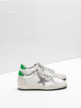 White Silver Ball Star Sneakers