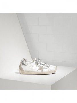 White Silver Superstar Sneakers