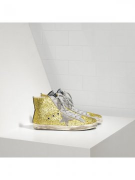Yellow Glitter Sneakers