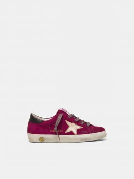 Superstar sneakers in suede with laminated star