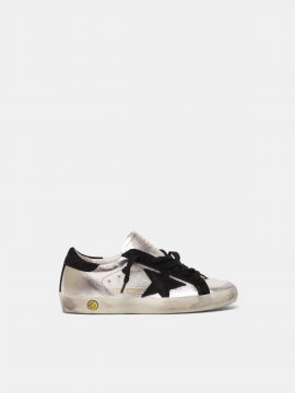 Superstar sneakers in laminated leather