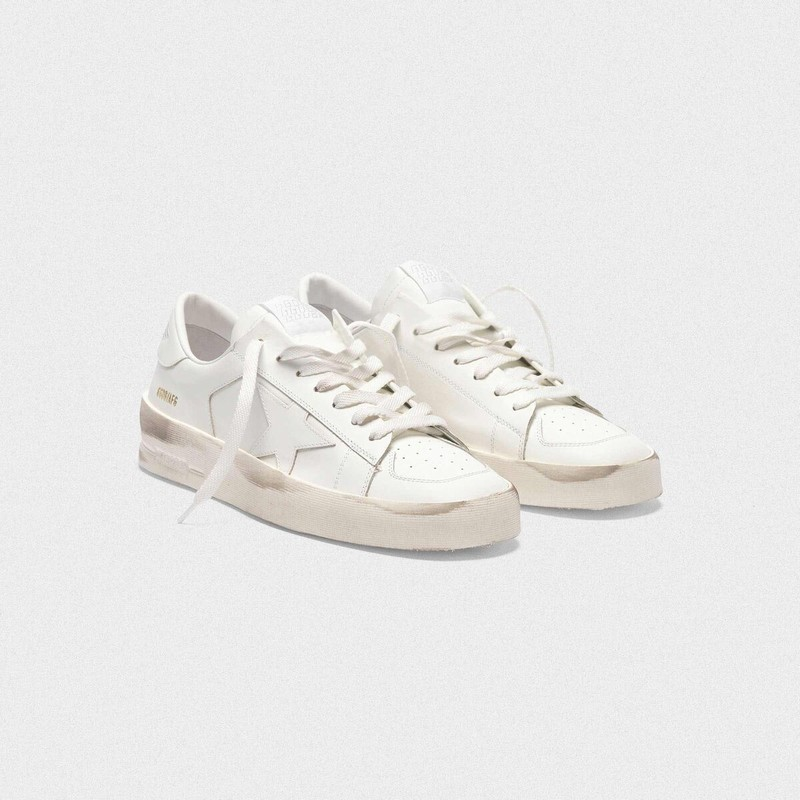 Golden Goose Stardan Sneakers In Total White Leather G35WS959.B8