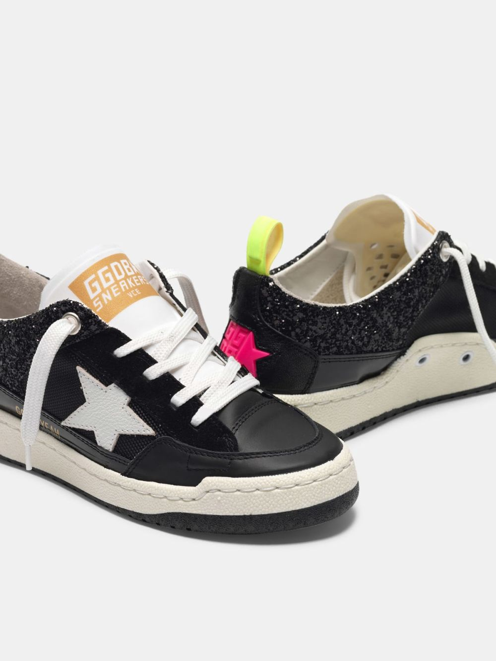 Golden Goose Yeah sneakers with white star Black G36WS602.A2