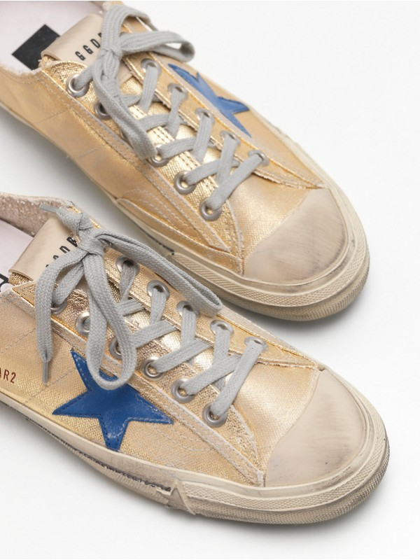 Blue Gold Superstar Sneakers