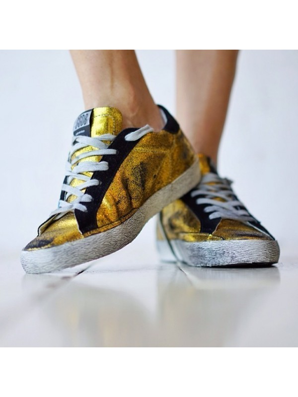 Gold Black Superstar Sneakers