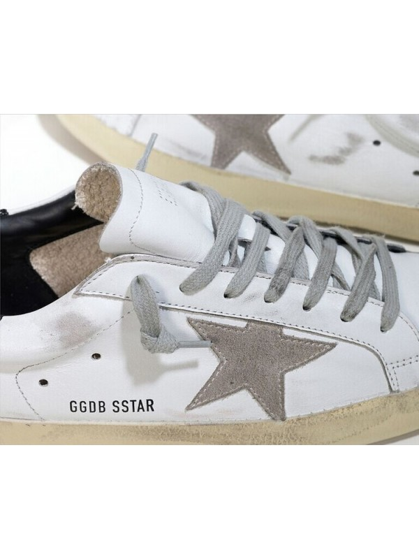 Gray White Black Superstar Sneakers