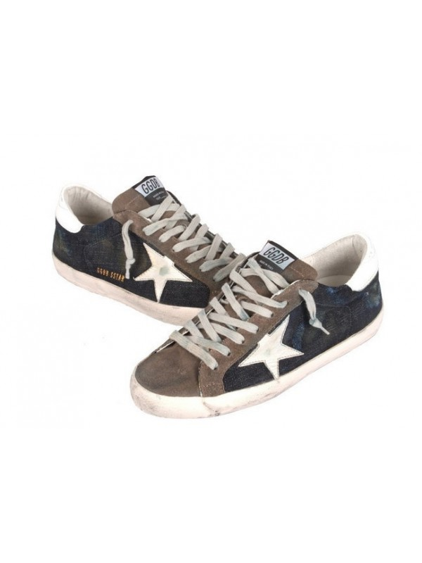 Navy Brown Superstar Sneakers