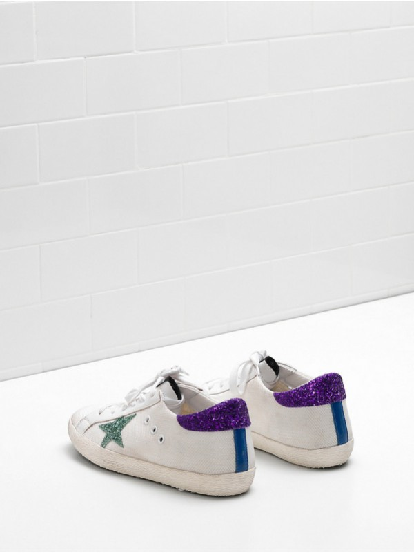 Purple White Green Superstar Sneakers