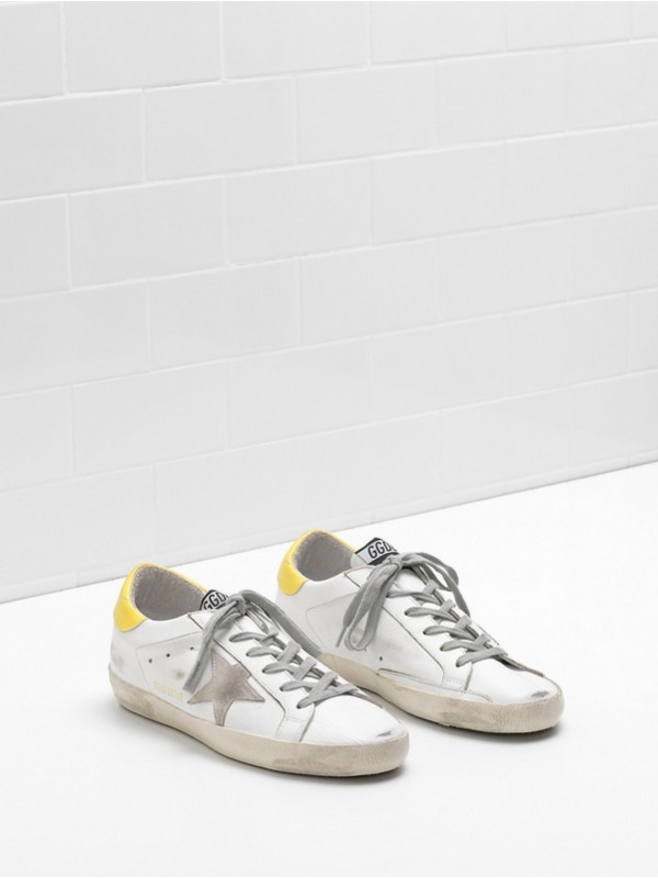 Yellow Khaki Superstar Sneakers